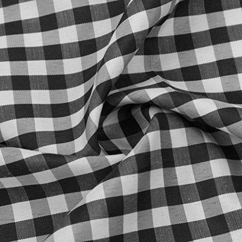 Abbigliamento Uomo, ASHOP Camicia Uomo Manica Corta, Camicia a Maniche Corte Estiva da Uomo Classica a Quadri Nero