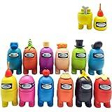 Juego de 12 figuras en miniatura para decoración navideña de jardín, decoración de mesa, figuras de dibujos animados, para fi