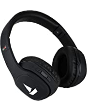 boAt Rockerz 380 Wireless Bluetooth Headphones with HD Sound, 40mm Audio Drivers, Up to 22 Hours of Play-Time & Integrated Controls with in-Built mic. (Luscious Black)