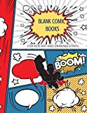 Blank comic books for kids art and drawing comic strips: Create your own amazing comic  Book Journal stickers download inside the book can you  printable