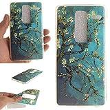 Guran® TPU Silikon Hülle für LG Class (H650E) / LG Zero Smartphone Gemalt Schutzhülle Cover-Blühender Baum
