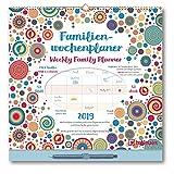 Familien Wochenplaner Dots 2019 - Eine Woche auf einen Blick, Familienplaner, Kalender für die gesamte Familie - 30,5 x 30,5 cm