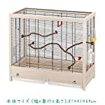 Ferplast Giulietta 6 Bird Wooden Cage, 81 x 41 x 64 cm, Black 9
