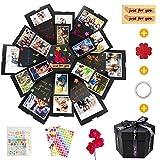 KIPIDA Kreative Überraschung Box Explosions Box DIY Faltendes Fotoalbum, Geschenkbox mit 6 Gesichtern, Geburtstag Jahrestag Valentine Hochzeit Album Foto Geschenk, Weihnachten Scrapbooking Fotoalbum