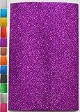 StoffBook 2MM MOOSGUMMI-PLATTE GLITZER BASTELSTOFF 20X29,5CM STOFF STOFFE, D313 (lila)