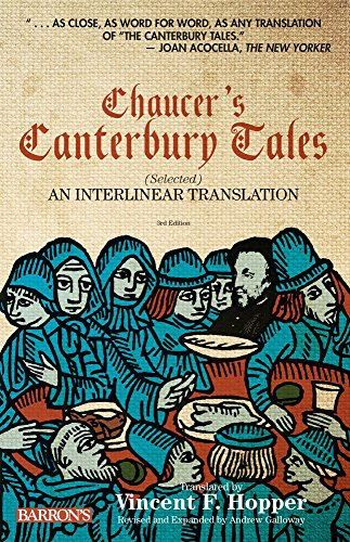 Chaucer S Canterbury Tales Selected An Interlinear Translation