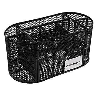 Desk Organizer, Annstory Mesh Office School Supplies Desktop Organizer Caddy w/ Drawer, Space Saving (9-part Black) by Annstory