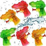 German Trendseller 24 x Super - Mini Wasserpistolen - Transparent ┃ NEU ┃ Mitgebsel ┃ Kindergeburtstag ┃ Kinder Pool Party ┃ 24 Stück
