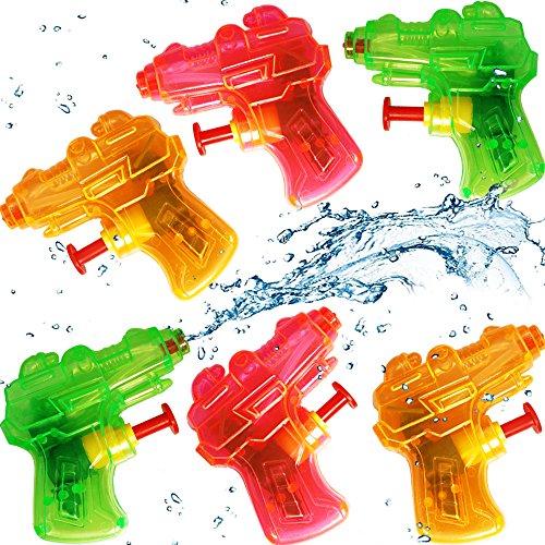 - 24 x Super - Mini Wasserpistolen - Transparent ┃ NEU ┃ Mitgebsel ┃ Kindergeburtstag ┃ Kinder Pool Party ┃ 24 Stück ()