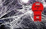 The Twiddlers Set Deluxe de Telaraña Gigantesco! 300 Gramos de telaraña Estirable Junto a 40 arañas - Decoración Fiestas de Halloween - Usar Sobre Muebles y muros.