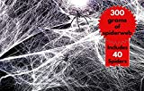 300gr de Telarañas elásticas realistas + 40 Arañas