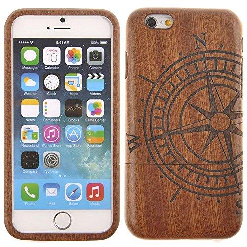 Semoss naturale cover protettivo bussola custodia in bambu fatta a mano bumper cover rigida per iphone 7 wood bamboo case cover realizzata a mano