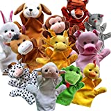 Jinon Funny Zoo Friends Hand Puppets Plush Cartoon Props Style Toys,Fun Puppets For Storytime, Pre-Reading Skills For Baby, Randomly Send One Of 12(like Elephant, Giraffe, Tiger, And Monkey,etc)