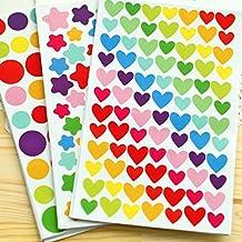 PuTwo - etiqueta autoadhesiva para esquinas de montaje de fotos, 18 unidades, 1200 pegatinas, DYI accesorios, papel, 18.6 x 9.6 x 0.2 cm, colores variados