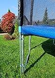 Outdoor Gartentrampolin Trampolin XL – 436cm komplett inkl. Sicherheitsnetz und Leiter TÜV geprüft von AS-S - 3