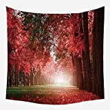 Europa y los Estados Unidos Serie de tapicería Forestal Tela Colgando Manta de Pared impresión Digital Lijado Tapiz WTG-7 130 * 150