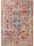 Benuta Teppich Visconti Multicolor 80x150 cm - Vintage Teppich im Used-Look