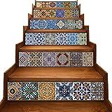 y-step Treppe Aufkleber selbstklebend Renovierungs Wasserdicht DIY Wandtattoo Vinyl 6Stück 17,8x 101,6cm