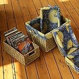 Erntekorb Weide bagehua Korb Aufbewahrungskorb Bett Snack Tisch Küche Aufbewahrungsbox Reinigungstuch Pastorale Trompete