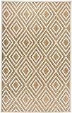 Schöner moderner flachgewebter In- & Outdoor Carpetforyou Teppich Diamond Sahara geometrisch beige braun creme in 4 Größen perfekt für Wohnzimmer Schlafzimmer und Balkon (152 x 230 cm)