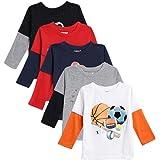 Kuchipoo Boys Regular Fit Cotton T-Shirt - Combo of 5 (KUC-TSHRT-121)