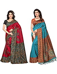 SAREE MALL Art Silk Saree With Blouse Piece(saree Combo Offers For Women SRJA008_027__Free Size)