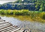 Aquarell-Malerei Kalender (Wandkalender 2018 DIN A3 quer): Fotos in Aquarell-Technik (Monatskalender, 14 Seiten ) (CALVENDO Kunst) [Kalender] [Apr 01, 2017] Schneller, Helmut