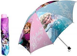 Disney Frozen Die Eiskönigin - Regenschirm faltbar mit Schutztasche Kinderschirm 55cm Anna Elsa