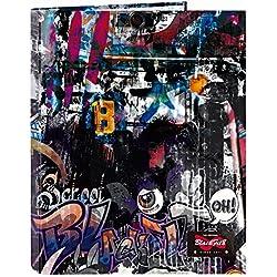 Blackfit8 Urban - Carpeta con folios,4 anillas, 265 x 330 mm