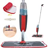 Fixget Spray Mop Mocio, Microfibra Spray Mop con Spruzzatore d'Acqua, Spray Polverizzatore con 2 Cuscinetti Mops in Fibra Mul