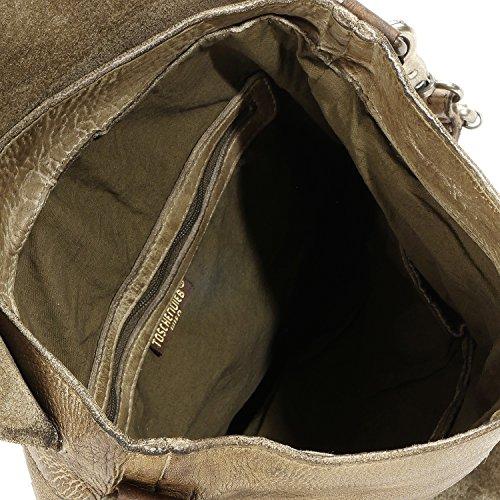 Taschendieb Unisex-Erwachsene Td0759 Schultertaschen, 29x34x1 cm olivgrün, grün