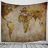HmDco Weltkarte Wandteppich Gedruckt hängenden Tuch, 2#, 200*150cm.