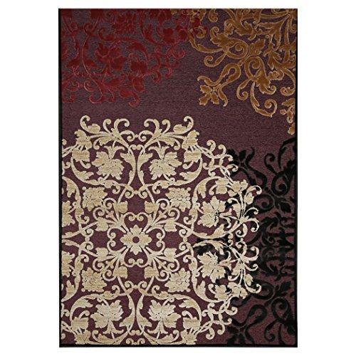 Tappeto da salotto di Design Classico modello Robbiate 140x200cm in viscosa e poliestere, tappeto salotto modello classico 140 x 200 cm, tessitura Wilton, peso 1.600 gr/mq, altezza pelo 3,5 mm