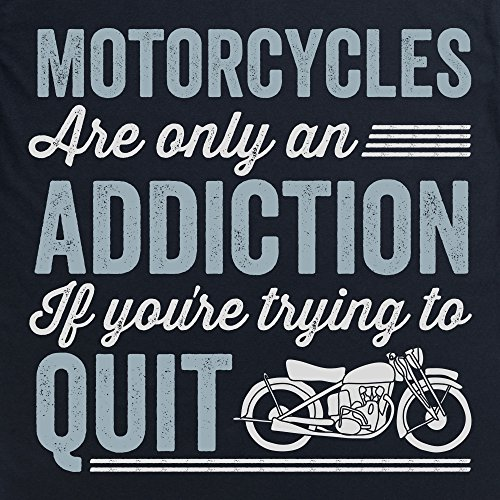 Motorcycle Addiction Langarmshirt Funny Novelty Gift, Herren Schwarz