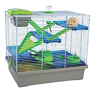 Rosewood Pico Hamster Cage, Extra Large, Silver by ROSEWOOD