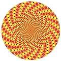 DJ Record Turntable Slipmats Orange & Yellow Optical ILLUSION EFFECT SLIPMAT x 1 (Single)