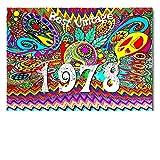 DigitalOase Glückwunschkarte 1978 40. Geburtstag Jubiläumskarte 40. Jubiläum Geburtstagskarte Grußkarte Format DIN A4 A3 Klappkarte PanoramaUmschlag #WOODST UK