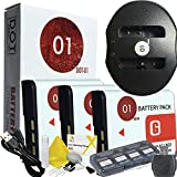 3x DOT-01 Brand 1400 MAh Replacement Sony NP-BG1 Batteries And Dual Slot USB Charger For Sony DSC-W300 Digital Camera And Sony BG1 Accessory Bundle