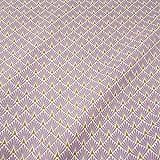 Stoff Baumwollstoff Meterware Japan Fächer Raute lila lavendel messing Kimono Neu Mode Trend