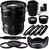 Fujifilm XF 10-24mm F/4 R OIS Lens + 72mm 3 Piece Filter Set (UV, CPL, FL) + 72mm +1 +2 +4 +10 Close-up Macro Filter Set With Pouch + 72mm Wide Angle Lens + 72mm 2X Telephoto Lens With Pouch Bundle 3