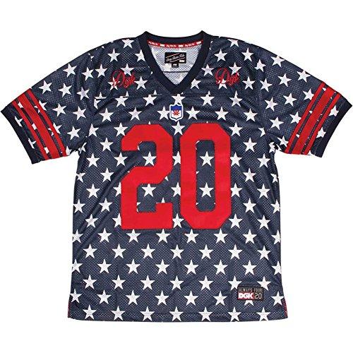 DGK Men's Americana Custom Football Jersey SS T Shirt