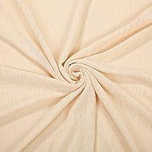 Efecto lino tejido de punto jersey Neotrims, fotografía para bebé con mango de Drape, de cuadros de textura suave, vestido de prendas de vestir y telón de fondo, Lino, crema, 1 m