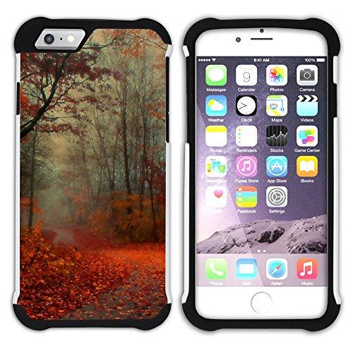 Graphic4You Herbst Leaves Bäume Postkarte Hart + Weiche Kratzfeste Hülle Case Schale Tasche Schutzhülle für Apple iPhone 6 / 6S Design #8