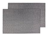 Alsino 2er Set Platzmatten abwaschbar Edel Kunststoff 30x45 cm schwarz Deko Tischset silber Platzset Tischmatten Küchendeko Platzdeckchen, Variante wählen:TS-62 schwarz silber