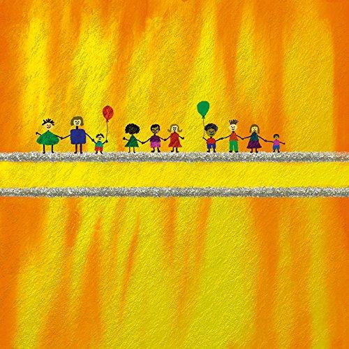 Artland Qualitätsbilder I Wandbilder Selbstklebende Wandfolie 90 x 90 cm Kindermotive Kinder Malerei Gelb A8ZV Multikulti