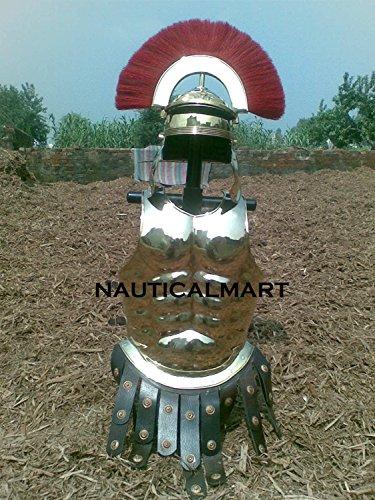 nauticalmart tragbar Muscle Armor mit römischen Centurion Helm Halloween-Kostüm