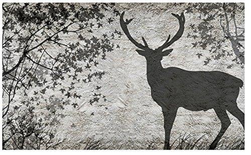 photo-papier-peint-cerf-arbres-ombre-en-gris-affiche-murale-3128ve-416cm-x-254cm-wxh
