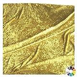 TOLKO Dekostoff - Pannesamt Meterware mit Stretch zum Nähen, Basteln und Dekorieren (Gold-Beige)