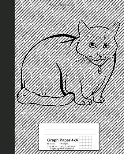Graph Paper 4x4: Book Turkish Van Cat (Weezag Graph Paper 4x4 Notebook, Band 277)