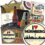 I love Nürnberg | NVA Geschenkset | Geschenkkorb | I love Nürnberg | NVA Paket | Nürnberg Geschenke für Frauen | mit Original Feldflasche der NVA, Flasche NVA Bier und mehr
